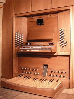 Peda board of Jesus College Kuhn organ